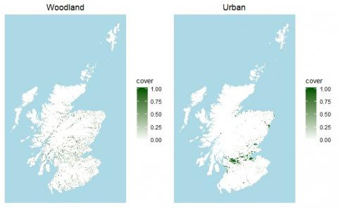 Land cover maps of Scotland